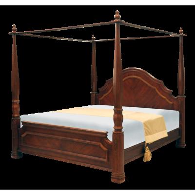 เตียงไม้จริง รุ่น CANOPY ขนาด 6 ฟุต