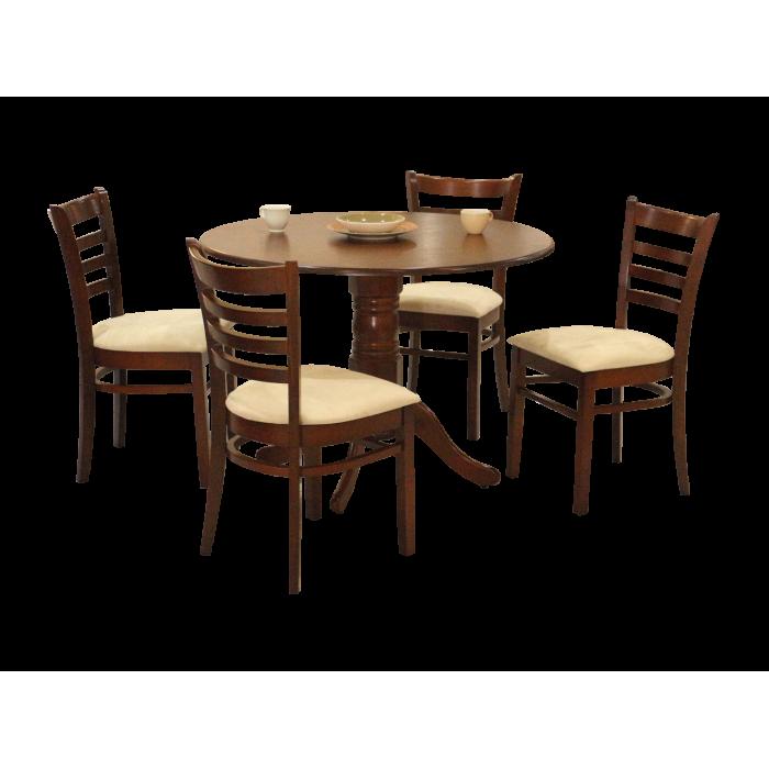 ชุดโต๊ะอาหาร 4 ที่นั่ง (ไม้จริง) รุ่น GALLERY