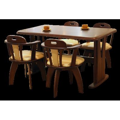 ชุดโต๊ะอาหาร 4 ที่นั่ง รุ่น นิวสกาย ขนาด 1.35 ม.
