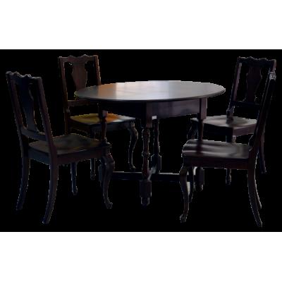 ชุดโต๊ะอาหาร 4 ที่นั่ง  รุ่น  วงรี 8113-204/150