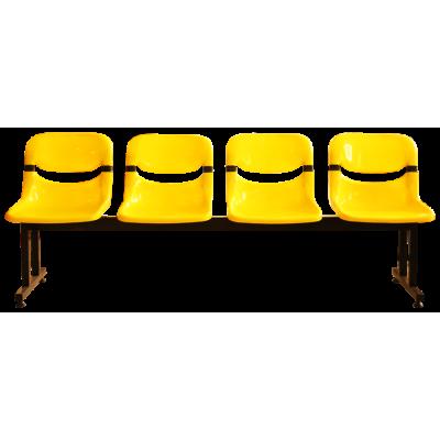 เก้าอี้แถว 4 ที่นั่ง ขาคู่ เปลือก EX รุ่น CPE-814
