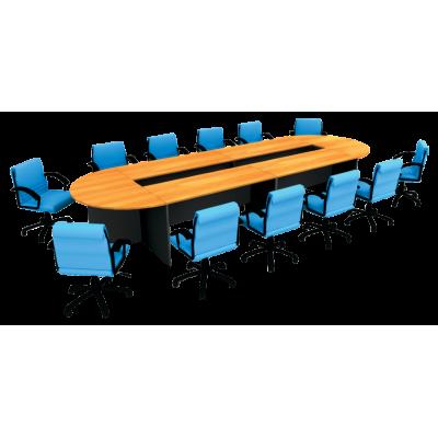 ชุดโต๊ะประชุมทรงโค้ง 10 - 12 ที่นั่ง รุ่น W5CFC45K