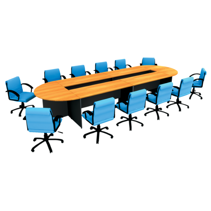 ชุดโต๊ะประชุมทรงโค้ง 10- 12 ที่นั่ง รุ่น W5CFC45